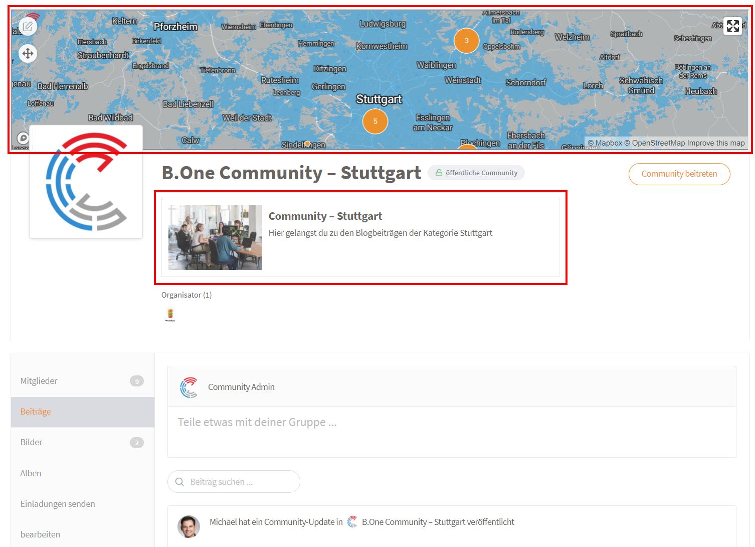 Detailansicht der B.One Community Stuttgart