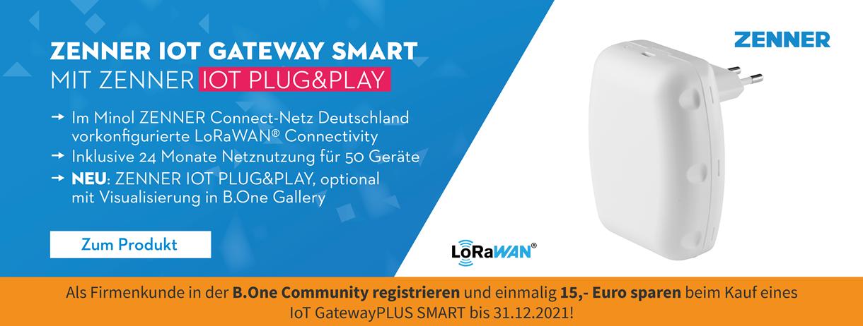 Gutschein-Code: 15 Euro sparen beim Kauf eines ZENNER GatewayPLUS SMART